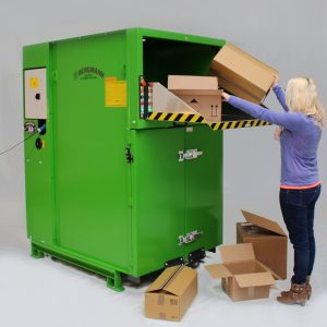 Bergmann roto compactor - cardboard boxes