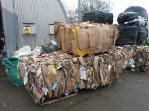 Kenburn supplies Cardboard 4-0S(50) Baler to Wasteaway Shropshire