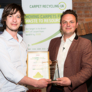 Arighi Bianchi receiving recycling award